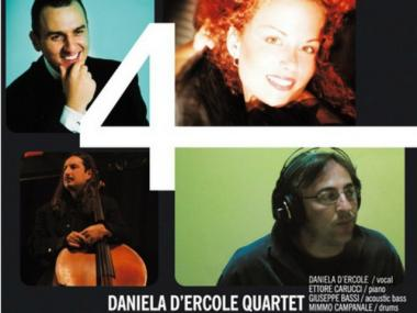 The Daniela D'Ercole Quartet, including bass player Giuseppe Bassi (bottom left).