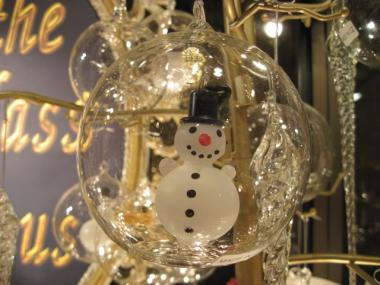 Snowmen are a common theme at the Grand Central Terminal's Holiday Fair.