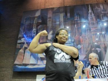 Joyce Boone, 44, was named the first female New York State Arm Wrestler of the Year, Nov. 17, 2011. She was crowned the New York City Queen of Arms in April.