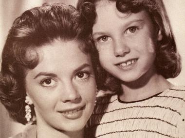 Lana Wood, right, pictured here with her sister, late actress Natalie Wood when Lana played Natalie as a young girl in the film 'Searches.'
