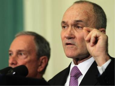 Police Commissioner Ray Kelly speaks as Mayor Michael Bloomberg looks on at a City Hall news conference in November 2011.