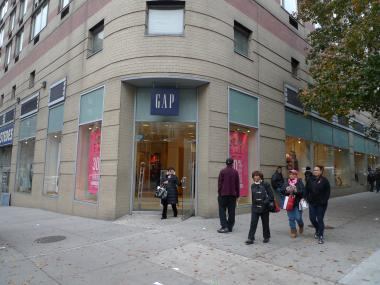 The Gap at West 86th Street and Broadway won't be renewing its lease, which ends in February 2012.