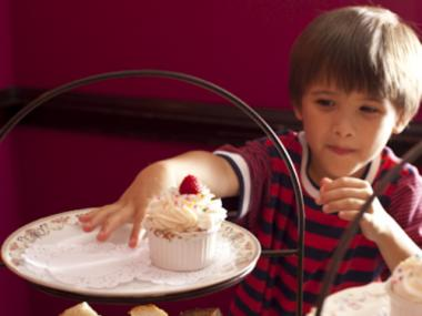 "Kids can order ""wee tea"" at Alice's Tea Cup on West 73rd Street."