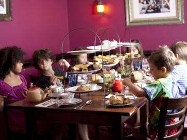 Alice's Tea Cup offers kids' parties. The Mad Hatter will put in an appearance if requested.