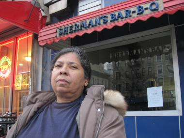 Sherann Grinan is trying to raise $15,000 to reopen Sherman's Barbecue in Harlem which was shuttered because of health violations. Ronnie Spector took the Beatles to eat at Sherman's Barbecue.