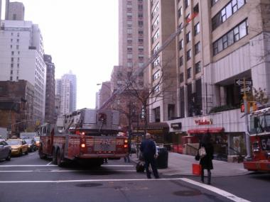 A fire broke out inside an East 38th Street high-rise on Mon., Dec. 5, 2011, authorities said.
