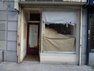 Several vacant storefronts appeared in 2011 on the east side of Amsterdam Avenue between West 78th and 79th streets.
