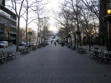 Dag Hammarskjold Plaza is the site of many demonstrations and rallies throughout the year.