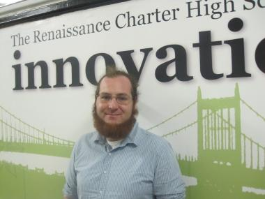 Nicholas Tishuk, principal and co-founder of East Harlem's Renaissance Charter High School for Innovation, the area's first charter high school.