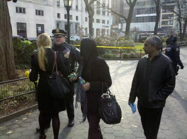Workers were evacuated from 1 Madison Avenue Wednesday morning while officials investigated a suspicious package report.