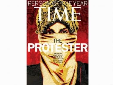 The cover of Time magazine's annual 'Person of the Year' issue.