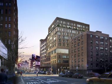 A rendering of the updated design for a proposed expansion to Chelsea Market