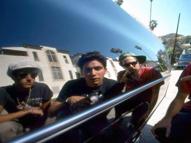 The Beastie Boys, shot by hip-hop photographer Ricky Powell. Powell will be showing this photograph and many others for an exhibit curated for his 50th birthday.