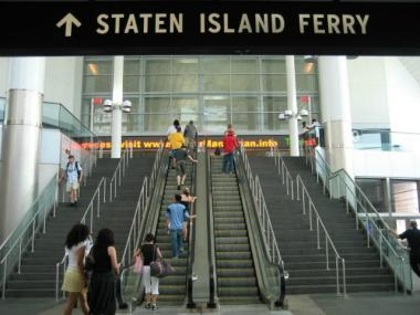 The Staten Island Ferry Terminal is bare this holiday season.
