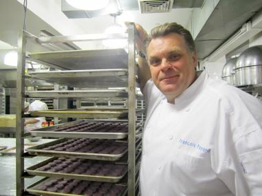 In preparation for the holidays, Francois Payard and his staff are assembling as many as 16,000 macarons a day.