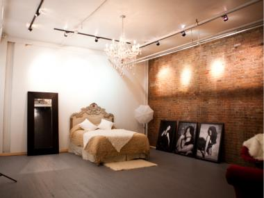 The new studio for French Kiss Boudoir Photography, 85 Franklin St.