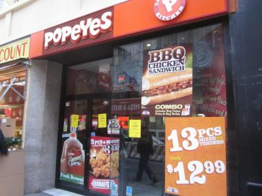 The Popeyes at 143 Fulton St. was shut down by the Health Department.