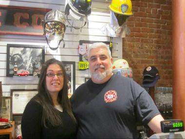 Firestore owners Noam and Annie Freedman say it's an honor to serve firefighters and police officers.