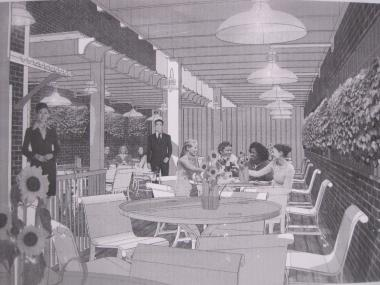 A rendering of the planned new rooftop deck at Red Sky.