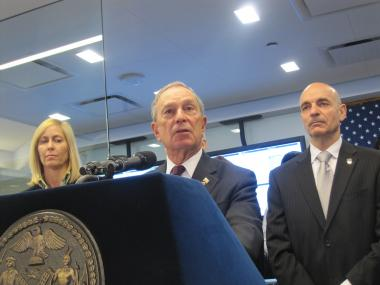 Mayor Michael Bloomberg announced the launch of the city's new 911 system Thurs., Jan. 5., 2012