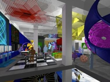 A rendering depicts what the interior of the new Museum of Mathematics may look like when it opens at 11 E. 26th Street later in 2012.