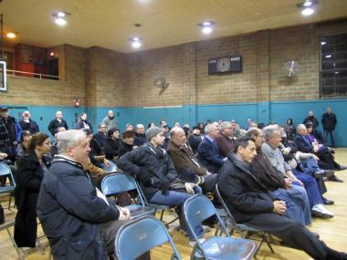 Dozens of supporters of the 86-year-old Feast of San Gennaro attended a community meeting on the event Jan. 5, 2012.
