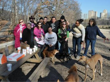 Pet lovers gathered immediately after the fire to offer support to Furry FIends owner Amine Benmesbah.
