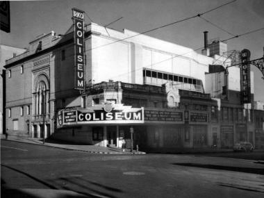 The Coliseum Theater during the 1940s was once a movie house and Vaudeville Theater.