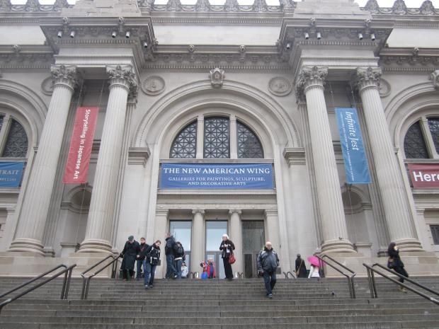 Ryan Watson, 33, was arrested for vandalizing a student's artwork at the Met Museum on Wednesday, police said.