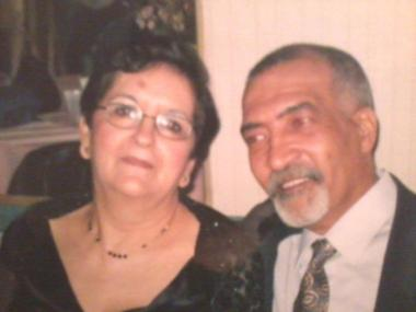 Essam Ahmed with his wife, Susana Arevalo.
