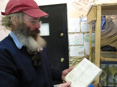 Urban farmer Christopher Toole reviews his original notes on his plan to breed tilapia in the Bronx.