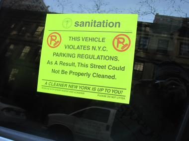 City Council Speaker Christine Quinn said it took her days to finally get rid of all the gunk a parking sticker left behind.
