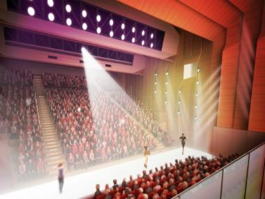 The New School's University Center will include an auditorium for which structures will be put up Sat., Jan. 21, 2012.