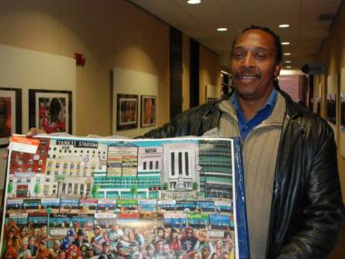 Lawrence Parker, an uninsured Bronx artist, plans to paint a neighborhood scene in exchange for health care at the Lincoln Medical and Mental Health Center.