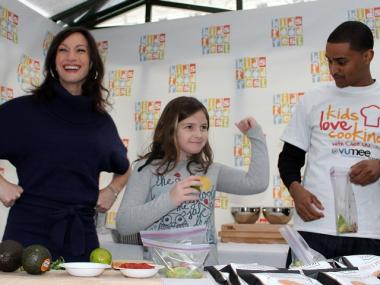 Festival founder Cricket Azima, aspiring chef Keely Jugans, of Gramercy, and Joe