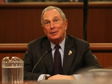 Mayor Michael Bloomberg delivers testimony before the joint session of the Assembly Ways and Means and the Senate Finance committees.