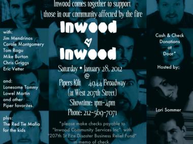 Inwood locals plan to gather Sat., Jan. 27, 2012, to raise money for businesses affected by the massive January fire.