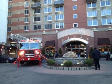 A fire broke out at 560 W. 43rd St., the Riverbank West building, on Jan. 29, 2012.