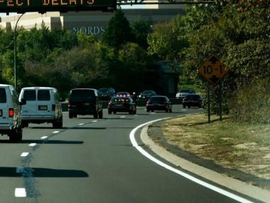 Two people were injured in a multi-vehicle accident on the Long Island Expressway on Jan. 30, 2012, officials said.