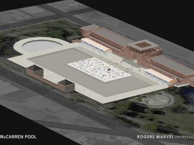The rink is projected to open by October 2012.