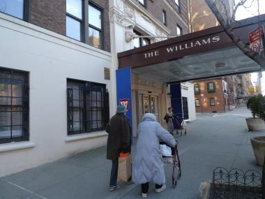 Williams Memorial Residence on West End Avenue and West 95th Street, where 95-year-old resident Peter Lisi was murdered in December 2011.