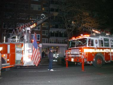 A fire broke out at 711 Amsterdam Ave. on Tues., Feb. 7, 2012, injuring five, the FDNY said.
