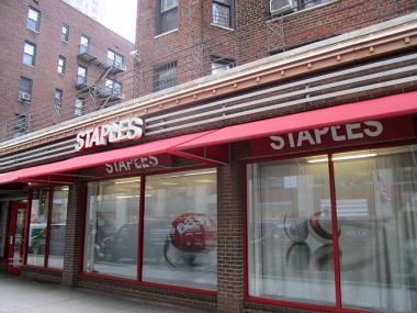 Two people were treated at the Staples store at 769 Broadway on Feb. 8, 2012.