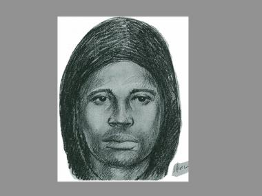A police sketch of the man suspected in a series of burglaries in Gramercy.