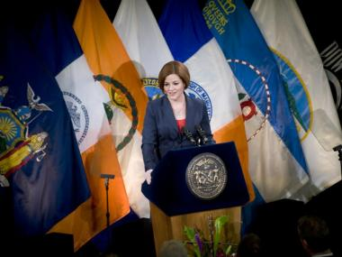 City Council Speaker Christine Quinn called for mandatory kindergarten during her State of the City speech.