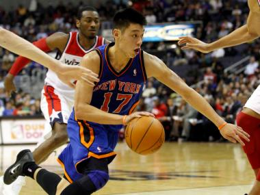 Jeremy Lin, the Knicks' standout point guard, had lunch with the ESPN editor who was fired for a racist headline.
