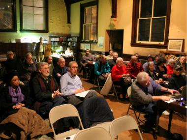 About 40 people showed up for the presentation, which was hosted by the East Bronx History Forum.