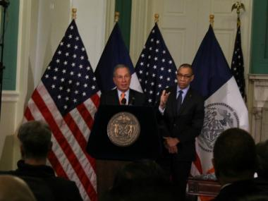 Mayor Michael Bloomberg and Schools Chancellor Dennis Walcott discussed the agreement at City Hall Thursday.