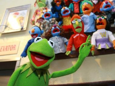 Kermit the Frog appears at the Whatnot Workshop at FAO Schwarz on November 11, 2008. Muppet fans can make their own stop-motion animation as part of the Jim Henson exhibit at the Museum of the Moving Image.