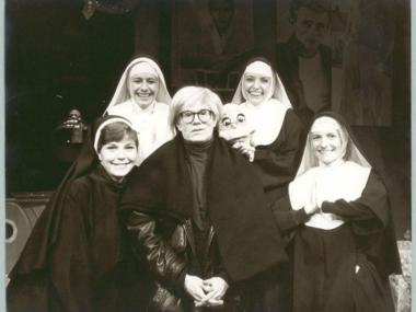 'Andy Warhol and Unidentified Women' from the new exhibit at Affirmation Arts.